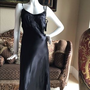 Dkny Dresses - New $298 DKNY Black Slip Dress sz 8